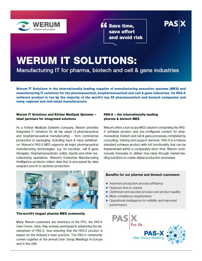 Cover_Werum_0011_Fact_Sheet_us