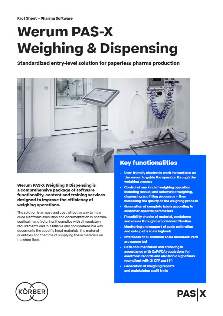 Cover_Werum_BR_0015_PAS-X_WeighingDispensing_us
